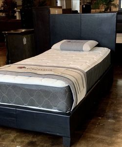 Twin Black Platform Bed Set With Plush Mattress Included for Sale in Austin,  TX
