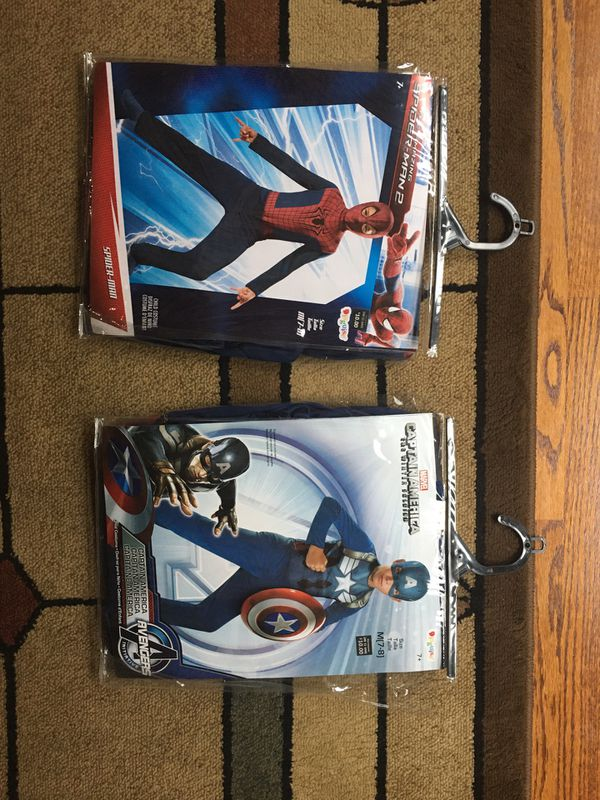 Halloween marvel captain America and Spider-Man costumes