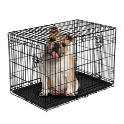 "Vibrant Life Double-Door Folding Wire Dog Crate with Divider, 36""L for Sale in Houston,  TX"
