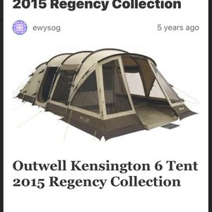 Top Of The Line Outwell 6 Man Tent. for Sale in Ceres, CA