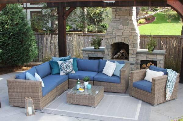 Sunbrella Patio Set Outdoor Furniture New Palmer Henley