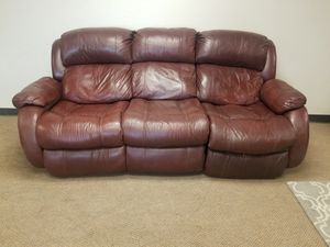 Brown Leather Recliner Couch for Sale in Denver, CO