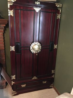 Pair of Contemporary chinese storage armoir for Sale in Tampa, FL
