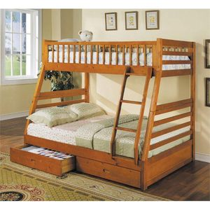 """Bunk bed elegance full/ twin with drawers """" mattress separate for Sale in Norcross, GA"""