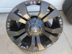 New 20X9 Satin Black Raceline Rims *8X6.5 *+20MM Offset* *Dodge&Chevy* for Sale in Aurora, CO