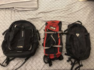 North Face ($30), Camelback ($20), and Quest ($10) Backpacks. for Sale in Westerville, OH