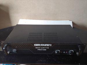 Gemsound Pro1300 PA Amplifier for Sale in Bloomfield, NJ