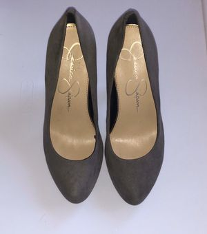 Jessica Simpson Suede Gray Heels for Sale in Whittier, CA