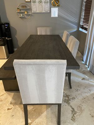 Rarely used, mint condition Living Spaces reclaimed wood table w/bench! for Sale in Scottsdale, AZ