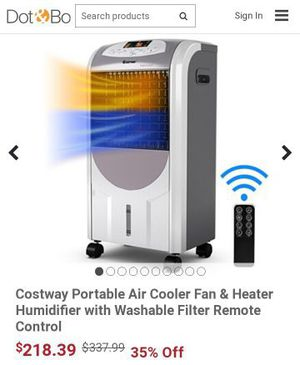 Selling a brand new Costway Portable Air Cooler Fan & Heater Humidifier with Washable Filter Remote Control for Sale in Bakersfield, CA