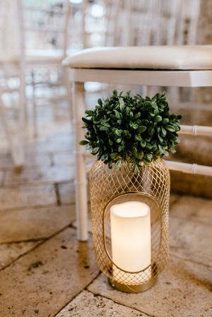 Gold open lantern with topiary for Sale in Orlando, FL