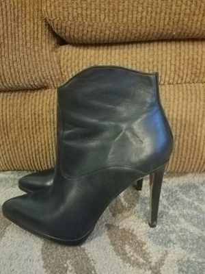 Black Soft Leather High Heel Boots for Sale in Gilbert, AZ