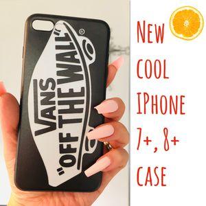 New cool iphone 7+ or iphone 8+ PLUS case rubber VANS men's women's hypebeast hype swag for Sale in San Bernardino, CA