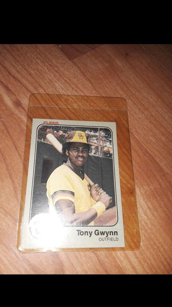 basketball card 1983 Fleer Baseball #360 San Diego Padres Tony Gwynn GAI 9 Rookie Not a PSA