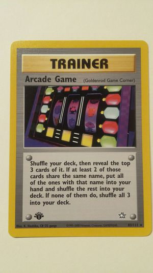 POKEMON 1ST EDITION TRAINER ARCADE GAME 1ST EDITION MINT NM for Sale in Las Vegas, NV