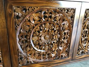 Hand carved antique Credenza for Sale in Northport, MI