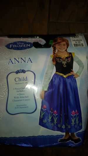 New Disney Frozen Anna Costume size M8-10 for Sale in San Diego, CA