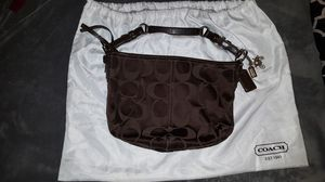 Coach Sateen Shoulder Bag Soho Hobo - Dark Brown - No. H0868-12675 for Sale in Seffner, FL