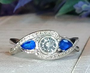 (Local) Sapphire Sterling Silver Filled Ring for Sale in Wichita, KS