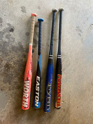 Baseball and softball bats for Sale in Wolcott, CT