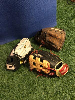 Baseball Gloves Bryce Harper Rawlings, Wilson for Sale in Houston, TX