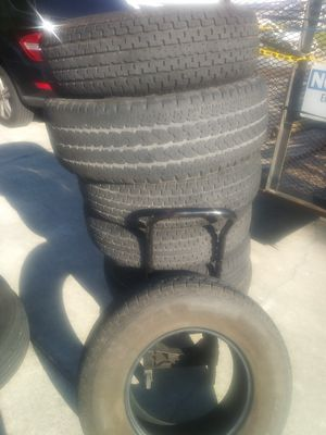 5 trailer tires 225/75/15 good tread 10 ply heavy duty for Sale in Port St. Lucie, FL