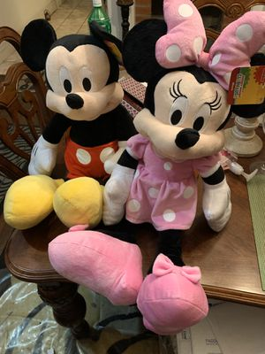 Minnie and Mickey stuffed animal for Sale in Los Angeles, CA