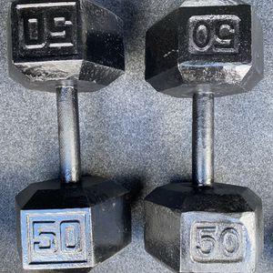 50lbs Dumbbells (Pair 100lbs Total) for Sale in Los Angeles, CA