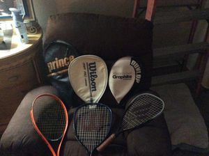 5 racquetball rackets with covers for Sale in LOS RNCHS ABQ, NM
