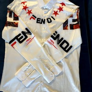 Fendi Palazzo Rare Satin Dress Shirt L for Sale in Silver Spring, MD