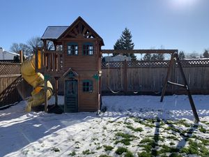 Outside swing set/playhouse with slide for Sale in Auburn, WA