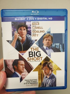 The Big Short Bluray and DVD Combo for Sale in Baytown, TX