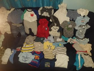 55 Pieces Baby Clothes Size 0-3months $75 Or TRADE For 6 Enfamil formula Free Enfamil formula, Avent Pacifier And More W Purchase for Sale in Commerce,  CA