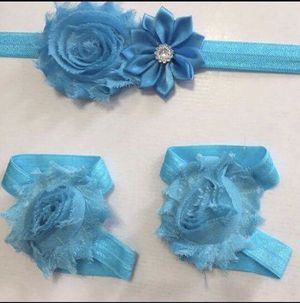 Beautiful handmade flower headband and barefoot sandals sets for Sale in Nashville, TN