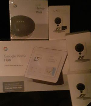 Google Home Hub, Google Home Mini and 3 WYZ Cameras for Sale in Phoenix, AZ