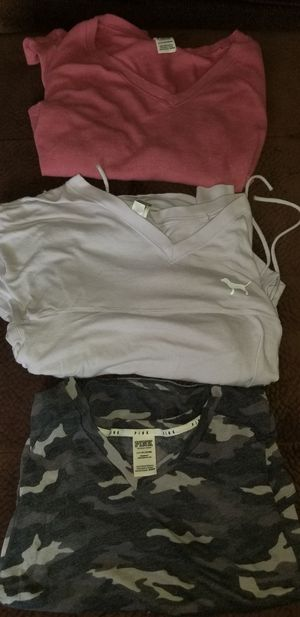 3 VICTORIA SECRETS PINK SHIRTS SIZE XS ALL 3 FOR $10.00 for Sale in Taylor, MI
