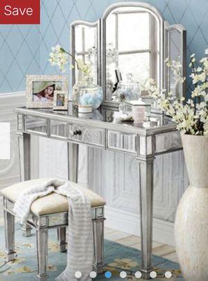 Vanity, Vanity Stool, Vanity Mirror and Bedside Table for Sale in Walnut Creek, CA