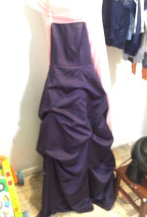 Davids bridal purple bridesmaids dress size 6 for Sale in St. Petersburg, FL
