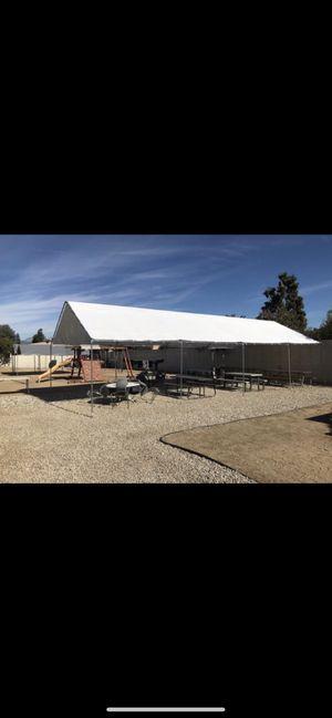 20x40 heavy duty canopy with top tarp for Sale in San Bernardino, CA