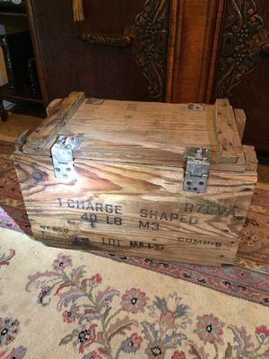 Vintage Rare Empty Wooden Box.. 1 Charge 40 lb. M3 Empty Box for Sale in San Antonio, TX