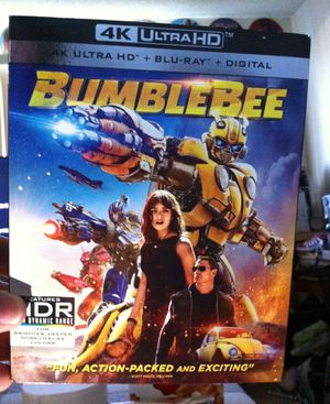 BUMBLEBEE 4K ULTRA HD BLU-RAY. JUST 4K MOVIE NEW With Slip Cover for Sale in Bellflower, CA