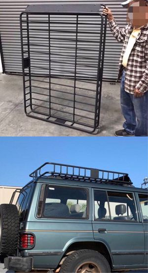 New in box XXL large 64x45x7 inches roof basket travel cargo carrier storage rack for suv car truck for Sale in Santa Fe Springs, CA