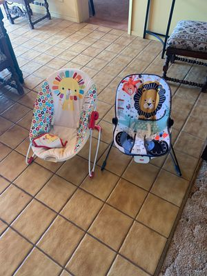 Fisher price kids bouncer chairs great and new ones used several times must sell today and everything else on my list for Sale in Altadena, CA