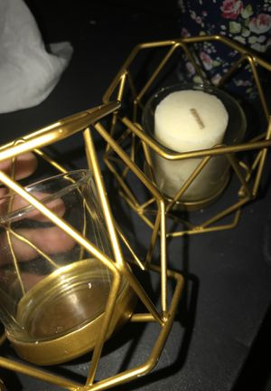 Gold candle holders for Sale in Springdale, AR