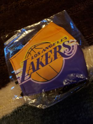 New Nba Los Angeles Lakers washable comfortable face mask for Sale in San Antonio, TX