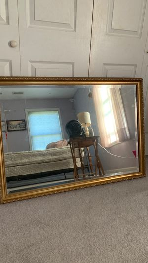Wall mirror with gold border for Sale in Saugus, MA