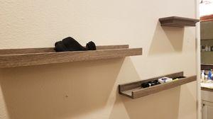 Brown wall shelves for Sale in Redmond, WA
