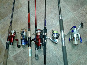 Fishing rods & pole, Shakespeare & Okuma brand . Work excellent. for Sale in Virginia Beach, VA