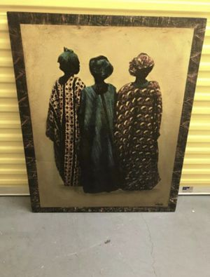 African Art Canvas Painting for Sale in Atlanta, GA