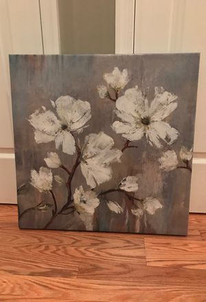 Blue Flower Canvas Painting for Sale in Pasadena, MD